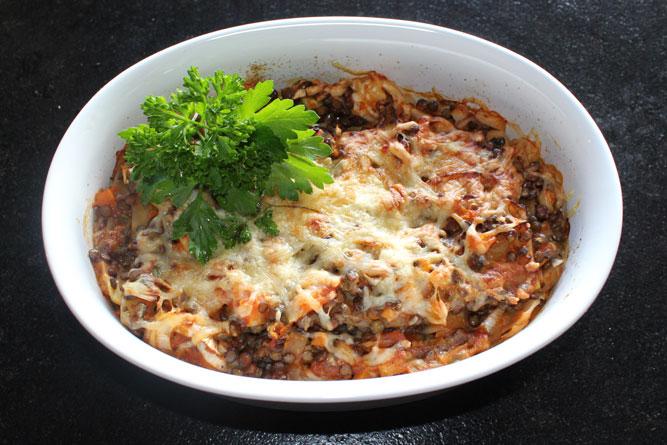 Heckengäulinsen-Lasagne